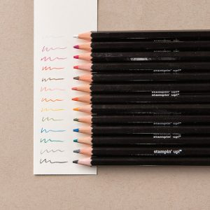 When purchasing this item you will receive 13 watercolor pencils that coordinate perfectly with other Stampin' Up products