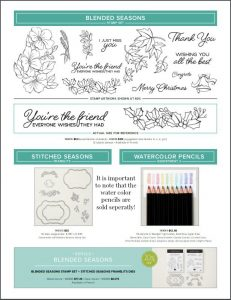 Blended Seasons Bundle kit! Note that the watercolor pencils are sold separately!