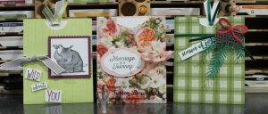Cards showcasing Designer Series Paper note the fun paper perfect for birthday's, weddings, or Christmas
