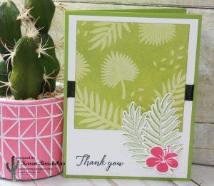 Summer Card using Sponging Technique