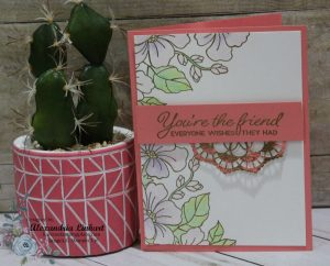 Using the watercolor can make a fun stamped image into a gorgeous masterpiece.