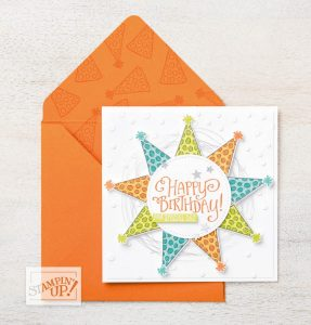 Example of how an envelope can fit a custom card using the Envelope Punch Board