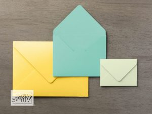 Different Sized Envelopes that can be made with the Envelope Punch Board