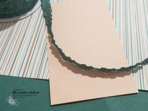 Tranquil Tide Cardstock and ribbon with Petal Pink Card stock and Designer Series Paper