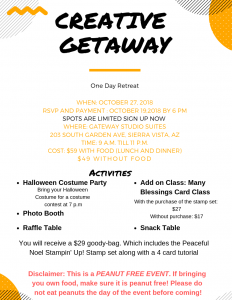 Click on the image to see about the Creative Getaway that I am hosting. You can RSVP to me at kabouchikas@msn.com