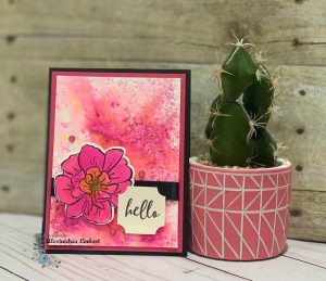 Handmade greeting card using two different techniques