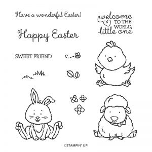 Welcome Easter Cling Stamp Set