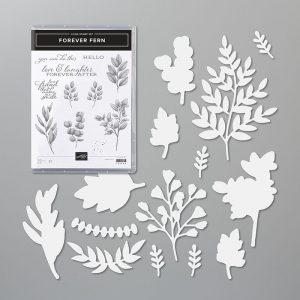 Forever Fern bundle stamp set and die set