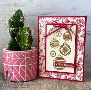 Toile Tidings Designer Series Paper Card