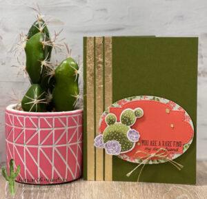 Gilded Cactus Card