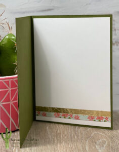 Inside Gilded Cactus Card