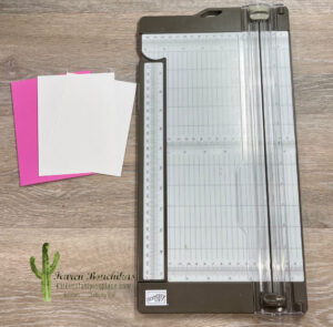 Trimmer with Paper Pieces