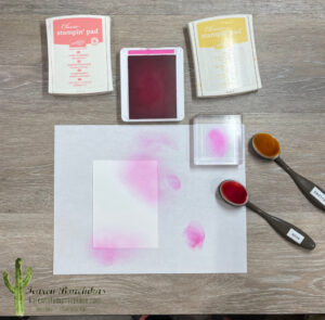 Sponging with Magenta Madness