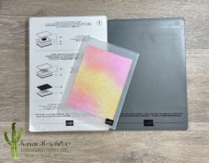 Embossing the Cardstock