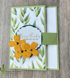 A Forevery Greenery Fun Fold 1