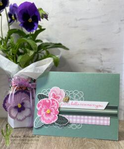 Pansy Box and Card