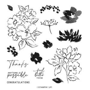 Hand-Penned Petals Photopolymer Stamp Set [155070] - Price: $22.00 - http://msb.im/1ARe